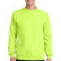 Port & Company Mens Core Fleece Crewneck Sweatshirt - Neon Yellow
