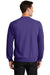 Port & Company PC78 Mens Core Fleece Crewneck Sweatshirt Purple Back