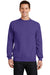 Port & Company PC78 Mens Core Fleece Crewneck Sweatshirt Purple Front