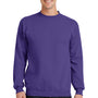 Port & Company Mens Core Fleece Crewneck Sweatshirt - Purple