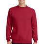 Port & Company Mens Core Fleece Crewneck Sweatshirt - Red