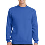 Port & Company Mens Core Fleece Crewneck Sweatshirt - Royal Blue