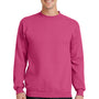 Port & Company Mens Core Fleece Crewneck Sweatshirt - Sangria Pink