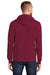 Port & Company PC78H Mens Core Fleece Hooded Sweatshirt Hoodie Cardinal Red Back