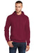 Port & Company PC78H Mens Core Fleece Hooded Sweatshirt Hoodie Cardinal Red Front