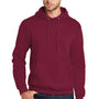 Port & Company Mens Core Fleece Hooded Sweatshirt Hoodie - Cardinal Red