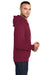 Port & Company PC78H Mens Core Fleece Hooded Sweatshirt Hoodie Cardinal Red Side