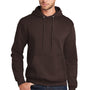 Port & Company Mens Core Fleece Hooded Sweatshirt Hoodie - Dark Chocolate Brown