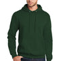 Port & Company Mens Core Fleece Hooded Sweatshirt Hoodie - Dark Green