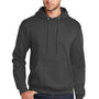Port & Company Mens Core Fleece Hooded Sweatshirt Hoodie - Heather Dark Grey