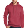 Port & Company Mens Core Fleece Hooded Sweatshirt Hoodie - Heather Red