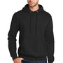 Port & Company Mens Core Fleece Hooded Sweatshirt Hoodie - Jet Back