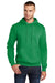 Port & Company PC78H Mens Core Fleece Hooded Sweatshirt Hoodie Kelly Green Front