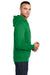 Port & Company PC78H Mens Core Fleece Hooded Sweatshirt Hoodie Kelly Green Side