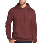 Port & Company Mens Core Fleece Hooded Sweatshirt Hoodie - Maroon