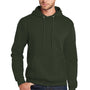 Port & Company Mens Core Fleece Hooded Sweatshirt Hoodie - Olive Drab Green