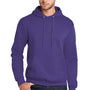 Port & Company Mens Core Fleece Hooded Sweatshirt Hoodie - Purple