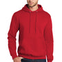 Port & Company Mens Core Fleece Hooded Sweatshirt Hoodie - Red