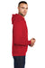 Port & Company PC78H Mens Core Fleece Hooded Sweatshirt Hoodie Red Side