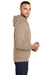 Port & Company PC78H Mens Core Fleece Hooded Sweatshirt Hoodie Sand Brown Side