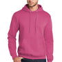 Port & Company Mens Core Fleece Hooded Sweatshirt Hoodie - Sangria Pink