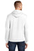 Port & Company PC78H Mens Core Fleece Hooded Sweatshirt Hoodie White Back