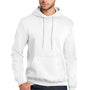 Port & Company Mens Core Fleece Hooded Sweatshirt Hoodie - White