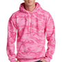 Port & Company Mens Core Fleece Hooded Sweatshirt Hoodie - Pink Camo