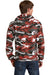 Port & Company PC78HC Mens Core Fleece Hooded Sweatshirt Hoodie Red Camo Back