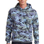 Port & Company Mens Core Fleece Hooded Sweatshirt Hoodie - Woodland Blue Camo