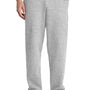 Port & Company Mens Core Fleece Open Bottom Sweatpants w/ Pockets - Ash Grey