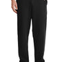 Port & Company Mens Core Fleece Open Bottom Sweatpants w/ Pockets - Jet Back