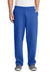 Port & Company PC78P Mens Core Fleece Open Bottom Sweatpants w/ Pockets Royal Blue Front