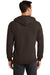 Port & Company PC78ZH Mens Core Fleece Full Zip Hooded Sweatshirt Hoodie Chocolate Brown Back