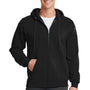 Port & Company Mens Core Fleece Full Zip Hooded Sweatshirt Hoodie - Jet Back