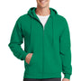 Port & Company Mens Core Fleece Full Zip Hooded Sweatshirt Hoodie - Kelly Green