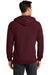 Port & Company PC78ZH Mens Core Fleece Full Zip Hooded Sweatshirt Hoodie Maroon Back