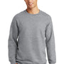 Port & Company Mens Fan Favorite Fleece Crewneck Sweatshirt - Heather Grey