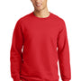 Port & Company Mens Fan Favorite Fleece Crewneck Sweatshirt - Bright Red