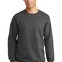 Port & Company Mens Fan Favorite Fleece Crewneck Sweatshirt - Heather Dark Grey