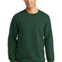 Port & Company Mens Fan Favorite Fleece Crewneck Sweatshirt - Forest Green