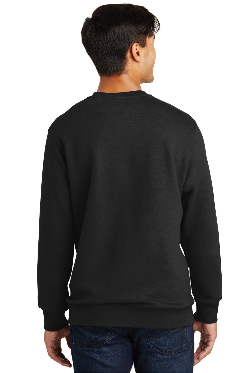 Port & Company PC850 Mens Fan Favorite Fleece Crewneck Sweatshirt Black Back