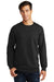 Port & Company PC850 Mens Fan Favorite Fleece Crewneck Sweatshirt Black Front