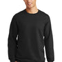 Port & Company Mens Fan Favorite Fleece Crewneck Sweatshirt - Jet Back