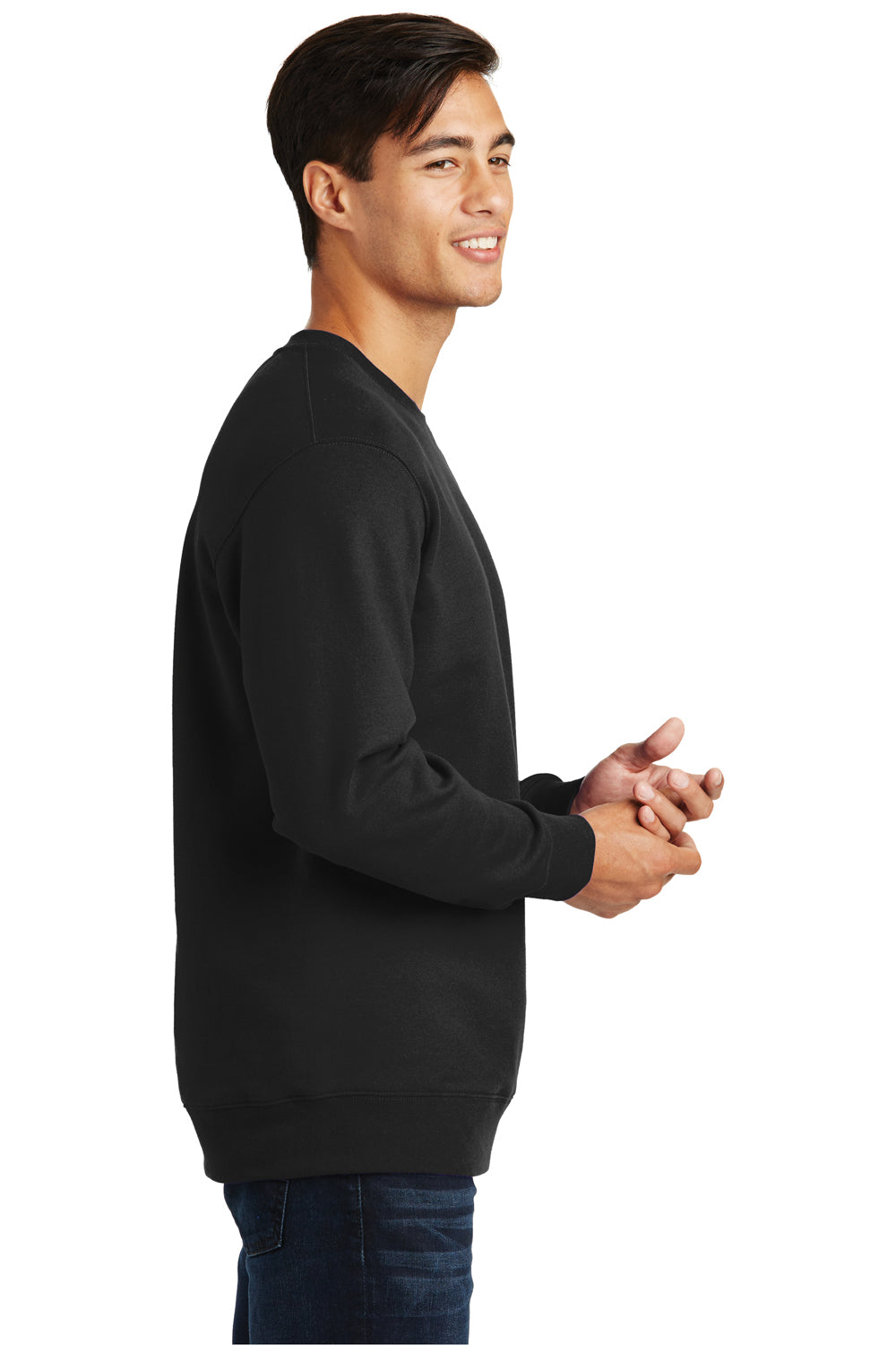 Port & Company PC850 Mens Fan Favorite Fleece Crewneck Sweatshirt Black Side