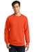 Port & Company PC850 Mens Fan Favorite Fleece Crewneck Sweatshirt Orange Front