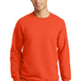Port & Company Mens Fan Favorite Fleece Crewneck Sweatshirt - Orange