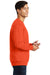 Port & Company PC850 Mens Fan Favorite Fleece Crewneck Sweatshirt Orange Side