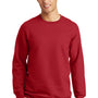 Port & Company Mens Fan Favorite Fleece Crewneck Sweatshirt - Team Cardinal Red