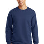 Port & Company Mens Fan Favorite Fleece Crewneck Sweatshirt - Team Navy Blue